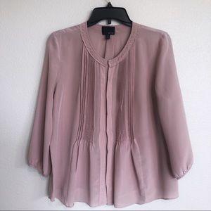 Greylin Nordstrom Pastel Pink 3/4 Sleeve Blouse